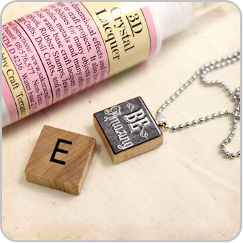 Scrabble Tile Necklaces