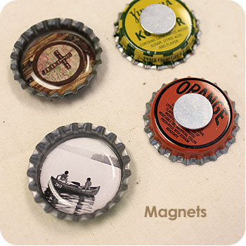 Bottle Cap Fridge Magnets