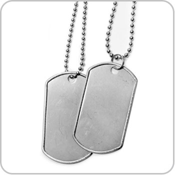 Dog Tag Necklaces for Girls and Boys