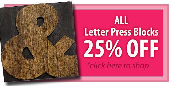 Letter Press Block Home Decor