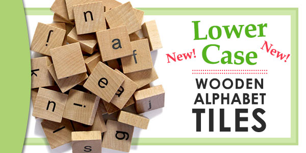 New Lower Case Wooden Alphabet Tiles
