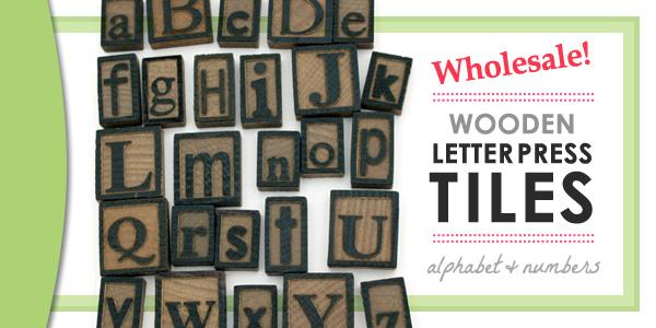 Wood Letter Press Tiles