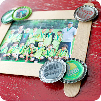 Popsicle Stick Picture Frames - Crafts for Boys